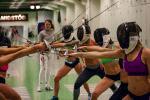 A video shoot at Reykjavik Fencing club