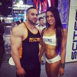 Magnea Gunnars with Scitec Nutrition at the 2014 FIBO expo